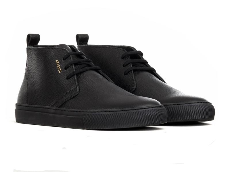 Black Full-Grain Leather Chukka