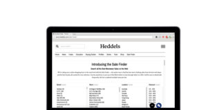 Heddels Launches The Sale Finder Search Tool