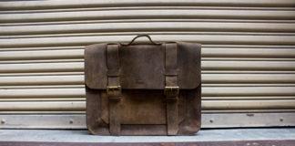Win Folk's Buffalo Leather Messenger Bag