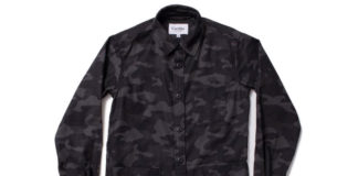 Standout This Season With A Black Camo Overshirt