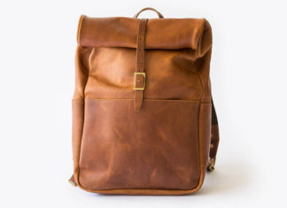 Whipping Post Has Your Back With This Leather Roll Top Backpack